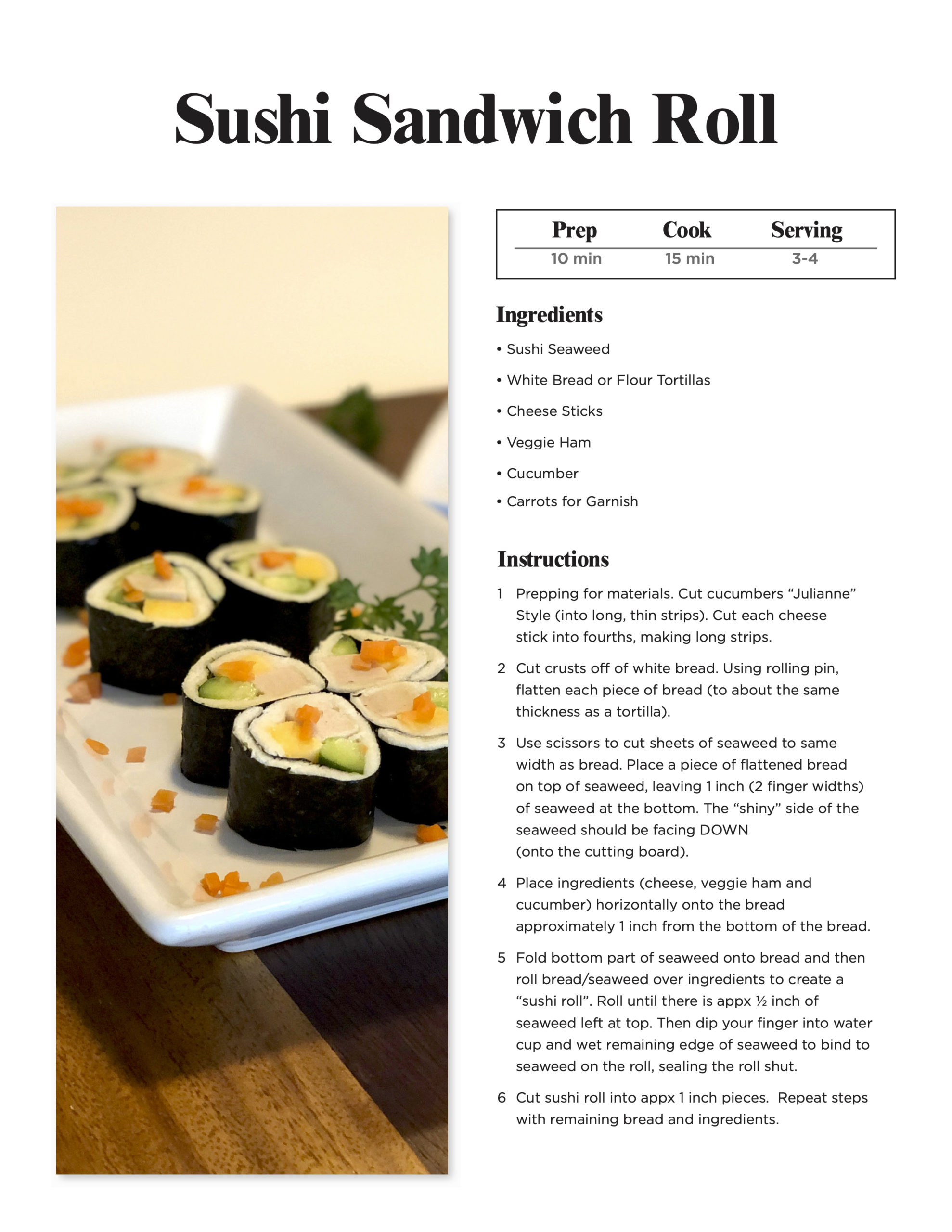 Sushi Bread Roll