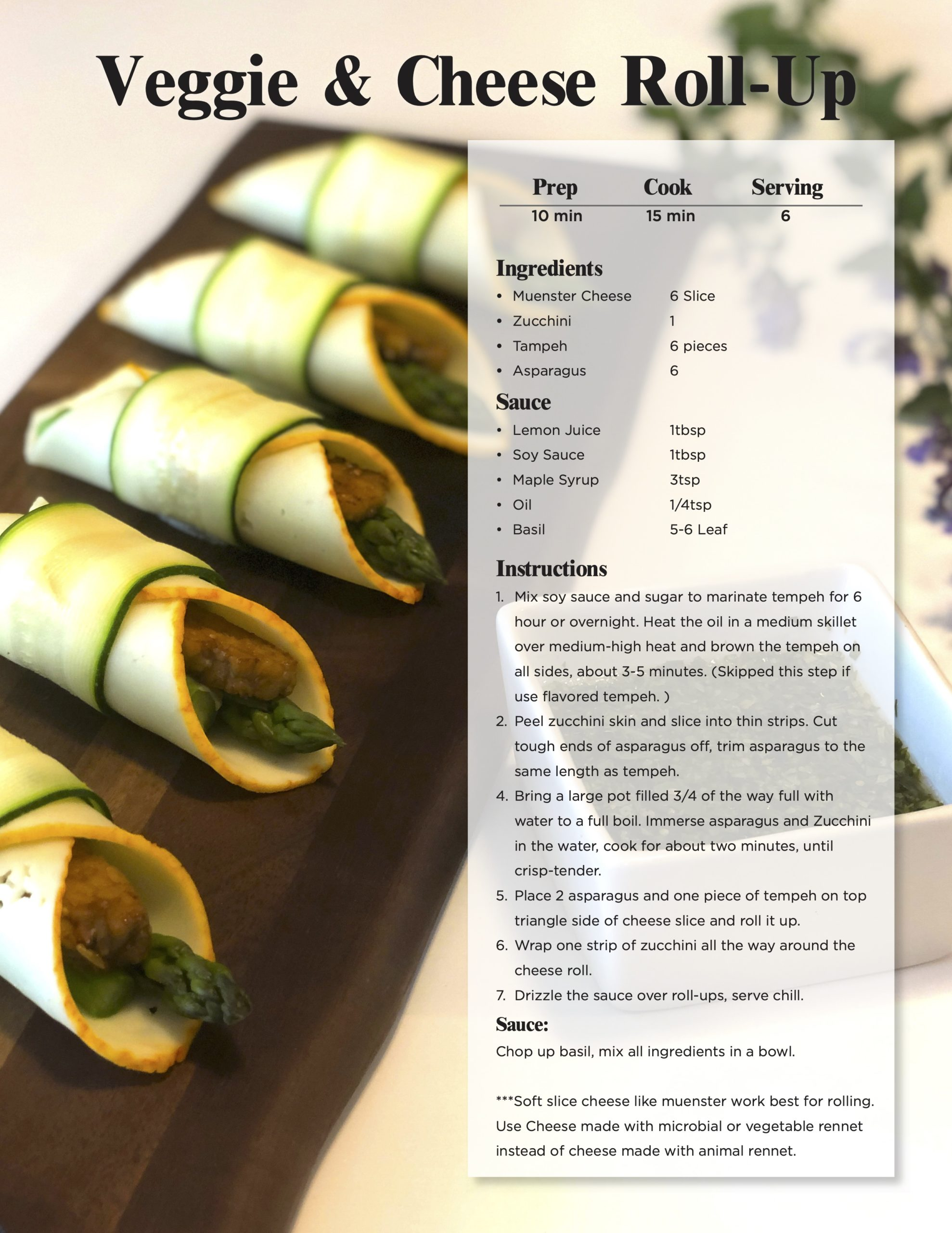 Veggie Cheese Roll Up